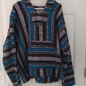 Baja Joe Hoodie Pullover Size Large